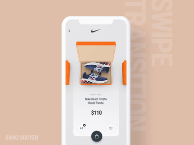 #10 Shoe Boxes - Swipe Transition sneaker app mobile app design ecommerce nike aftereffects clean design animation ui interactive ux ui transition swipe box shop shoe