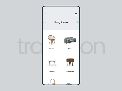 #15 Transition Experiment model 3d minimal ux ui app mobile app clean motion aftereffects interaction interface transition product eccomerce shop furniture store furniture interior