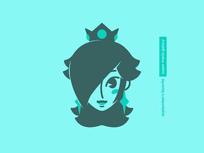 September's Favorite: Super Mario Galaxy switch wii game logo character vector favorites illustration princess rosalina nintendo mario super mario galaxy iconography icon