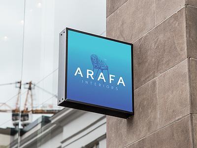 Arafa Interiors logo preview mockup visual identity logo furniture interior
