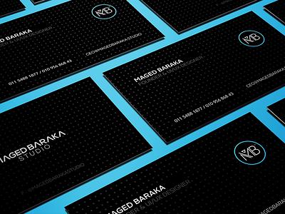 Maged Baraka Studio - Branding business card stationary branding