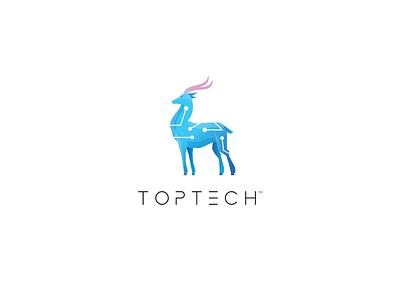 Toptech Visual identity technology tech branding logo identity visual toptech