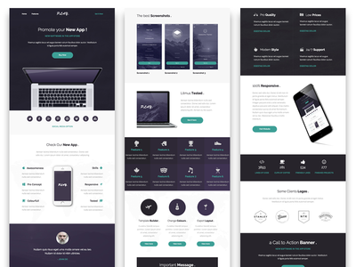 Play - Responsive Email + Online Template Builder apple app play themeforest psd newsletter marketing mailchimp email dynamicxx campaign builder