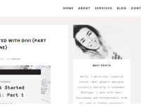 Divi Single Blog Post Design