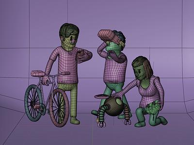 AWeber - Who we are   3D Illustration vr bicycle bike roboto tech design web design b3d c4d mograph 3d animation people illustration people icons 3d icon people 3d art 3d modeling render illustration 3d