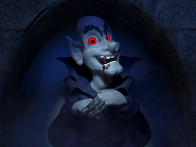 Vlad Says Hi october haunt castle blood fangs nosferatu dracula vlad ghoul vampire zbrush b3d render blender illustration 3d halloween