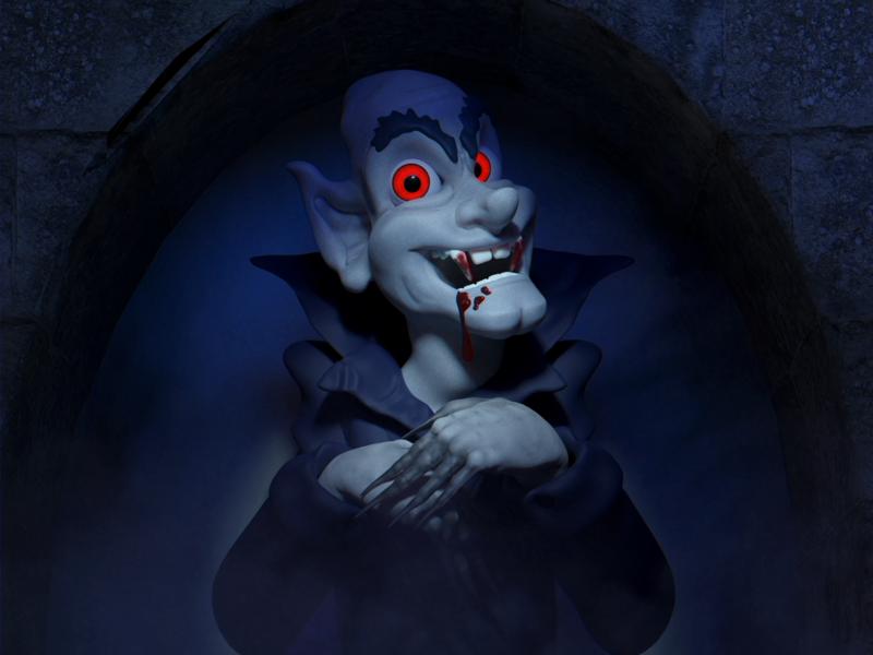 Vlad Says Hi october haunt castle blood fangs nosferatu dracula vlad ghoul vampire zbrush b3d render blender illustration 3d halloween