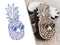 Pineapple Jake - The Wooden Pin