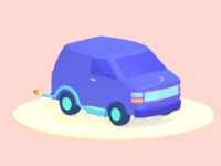 Van Game Asset Design