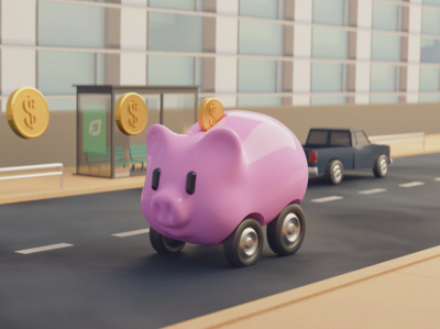 Piggy Bank Cash Car