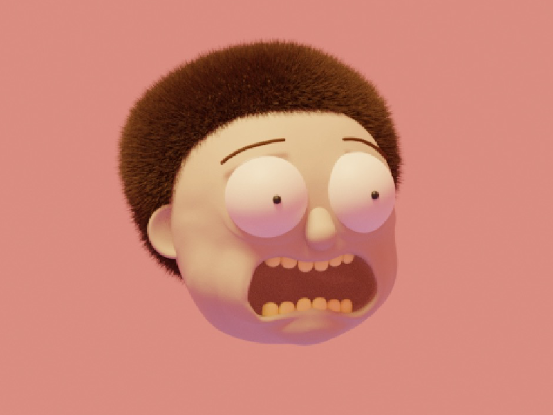 MORTY! 3d adult swim morty rick and morty