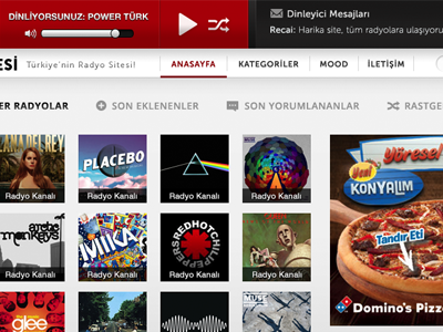 Radio Portal UI Design