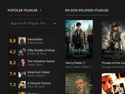 Movie UI Concept