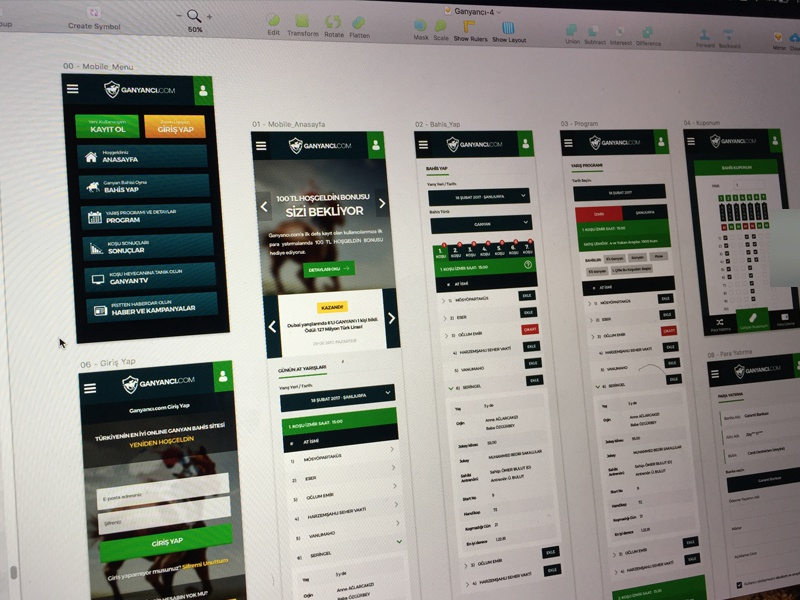 Mobile Betting App sketch mobile landing flat bonus sport bet betting
