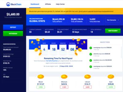 Blockchain Invest Dashboard