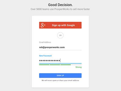Log In / Sign Up material design sign up signup login log in