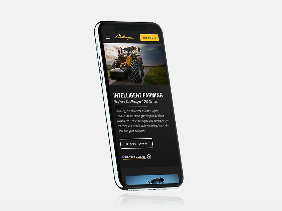 Agco challenger design mobile hero