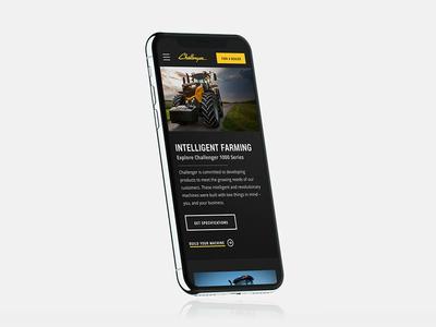 AGCO Challenger Website Redesign