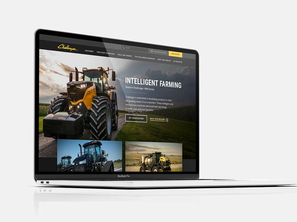 Agco Challenger Design Desktop branding design website ux strategy ux research ux ui rebrand