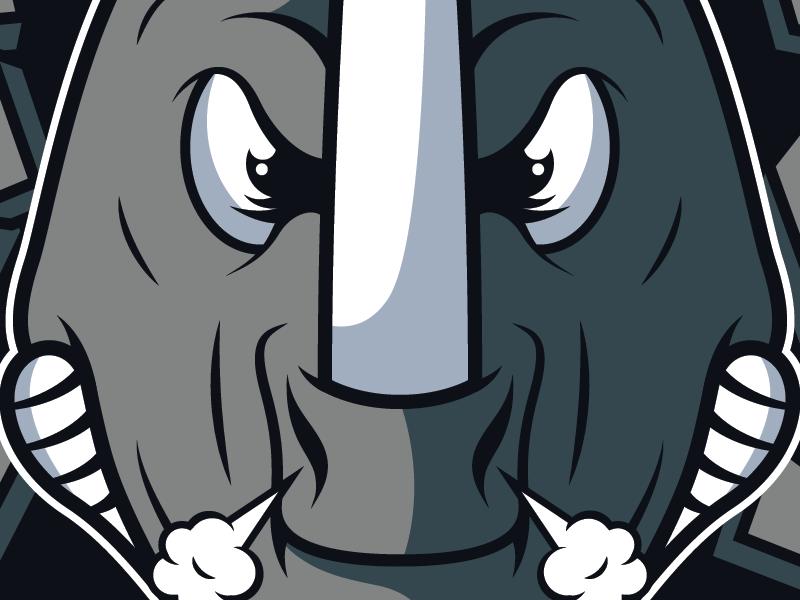 Rhinos rhinos donkey kong island rambi nintendo design vector team logo
