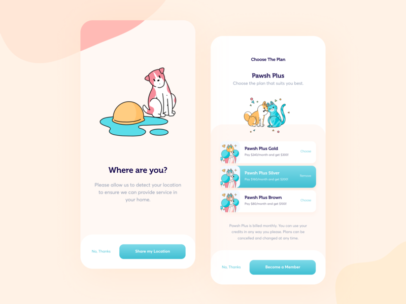 Pawsh // Mobile App Part.3 mobile app mobile design order iphone pricing mobile app blacklead illustration minimal clean ui ux pet product ios application design