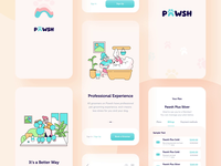 Pawsh // Mobile App All Screens