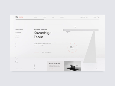 MUJI design studio // Dark Mode