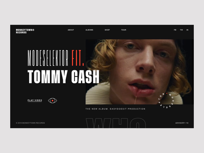 Promo video page // Modeselektor feat. Tommy Cash - Who