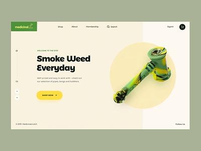 Medicinal // Loading Animation tgk cbd marijuana weed cannabis promo website motion layout homepage animation design creativity desktop main website web minimal clean ux