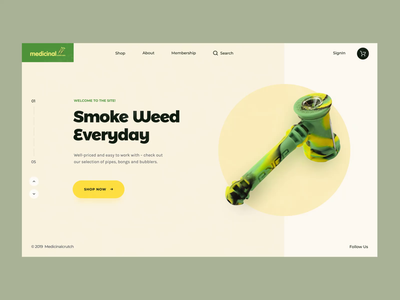 Medicinal // Loading Animation tgk cbd marijuana weed cannabis promo website motion layout homepage animation design creativity desktop main website web minimal clean ux