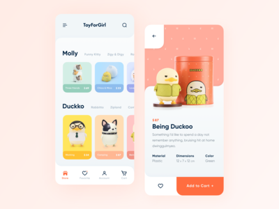 Mobile App for Toy Store// Concept