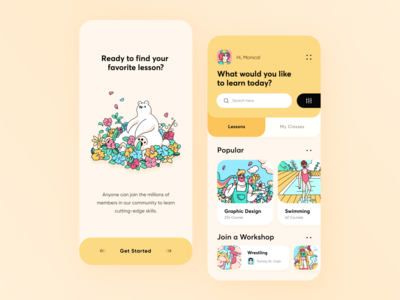 Design Learning Platform App // Concept