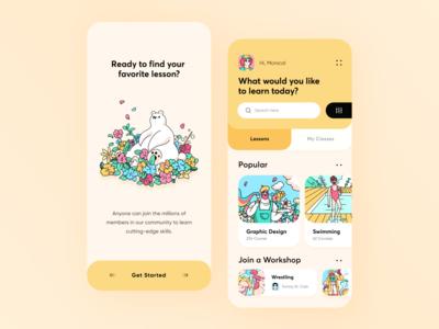 Design Learning Platform App // Concept
