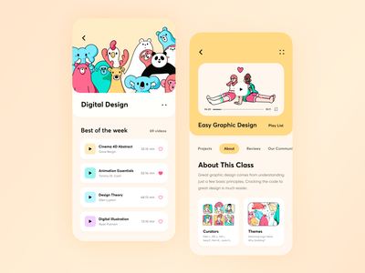 Design Learning Platform App // Concept 2 learning courses education ios learning app lesson mobile app ui card student study typography branding vector illustration minimal ui course clean app design ux