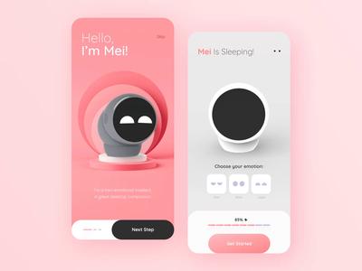 Design MEI App // Concept technology mobile friend futuristic motion onboarding minimalism app design ios app smartdevice smart inovation animation branding creativity minimal clean ui ux