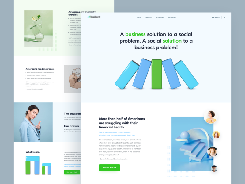 Business // Home Page social geometric clear mobile product page business cinema 4d 3d wed design homepage creativity design desktop website main web minimal clean ui ux