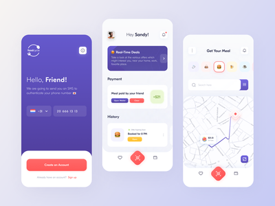 Food Cycle // // Product design Part.1 smart onboarding food mobile ui experience gradient app design application creative icons blacklead interface product design product mobile app mobile minimal clean ui ux
