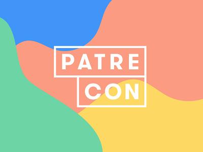 Patrecon 2017 swag logo identity green yellow blue coral creators conference patreon 2017 patrecon