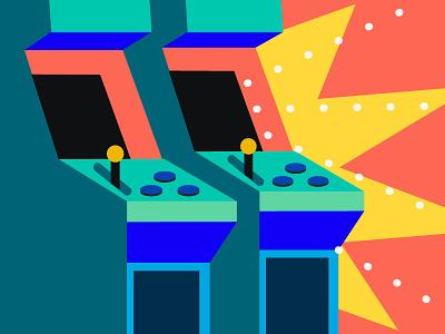 Gaming Creators illustration 80s colorful creators gaming patreon
