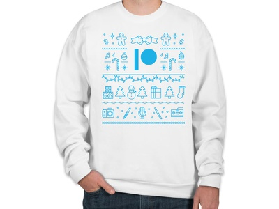 Patreon Holiday Sweater winter christmas creators cute white swag patreon sweater holiday