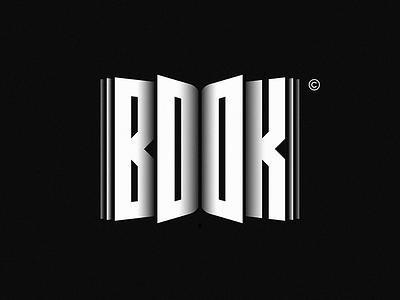 BOOK minimal design negative symbol illustration typography brand logo mark idea