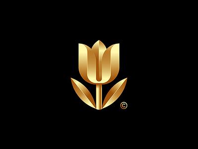 Tulip branding space symbol design illustration vector brand logo mark idea
