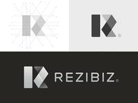 Rezibiz / Residential sector illustration branding symbol negative idea design typography brand logo mark