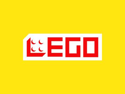 LEGO creative negative branding logo brand illustration typography design mark idea