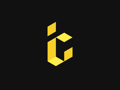 ic illustration branding minimal black symbol typography brand design idea mark