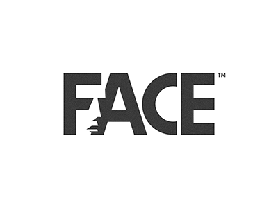 FACE face people black negative space idea piotrlogo