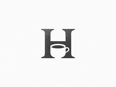 House Coffe space piotrlogo negative logo idea house drink design cup coffe