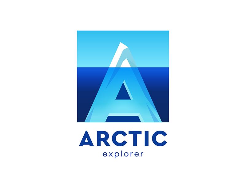Arctic Explorer arctic explore travel typography sign logo idea design brand