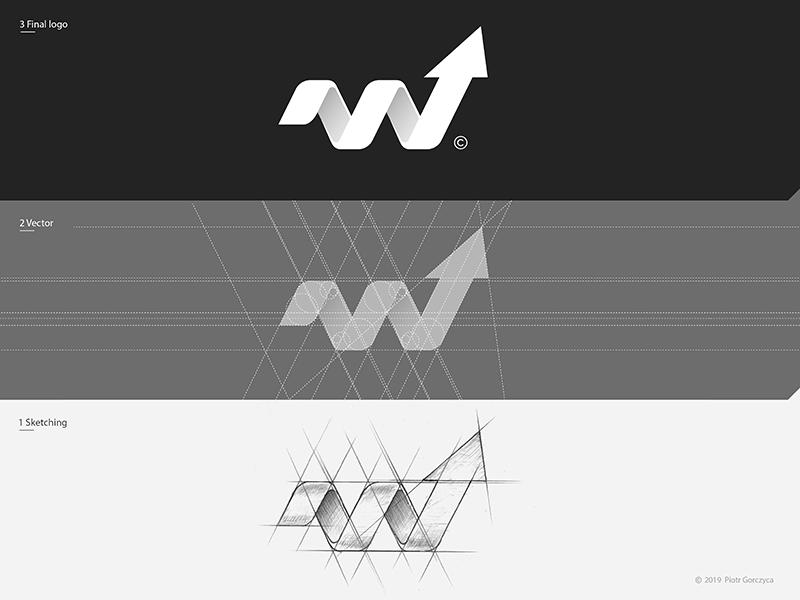 WIT Trainers / Logo Design Process. white illustration design idea construction sign letter flat geometry creative minimal space icon symbol branding typography black brand mark logo