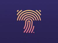 Tapp / App , Inspitation : Letter ''T'' +  Fingerprint